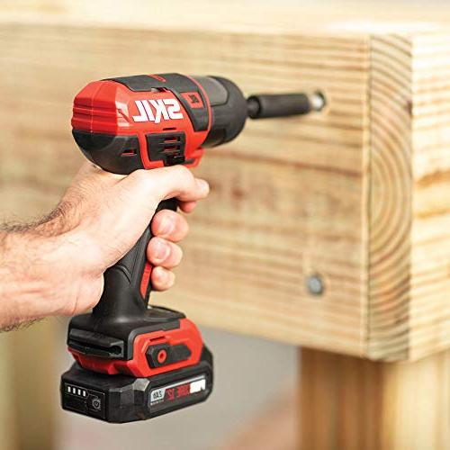 SKIL 12V 1/4 Inch Cordless Impact Two Lithium Batteries and ID574402