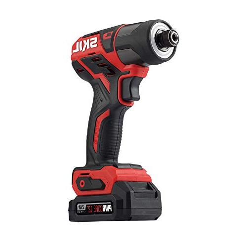 SKIL 12V 1/4 Inch Hex Cordless Impact Driver, Two ID574402