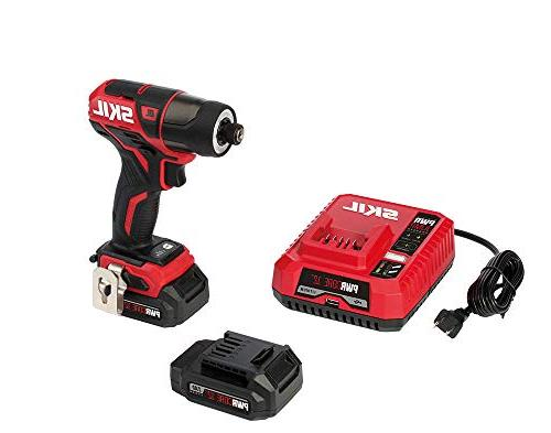 SKIL PWRCore 12V 1/4 Cordless Impact Driver, Two 2.0Ah and ID574402