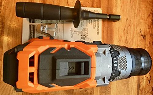 Ridgid Lithium Ion Cordless 1/2 Inch 780 Inch Pound Hammer with Lighting Textured Handle