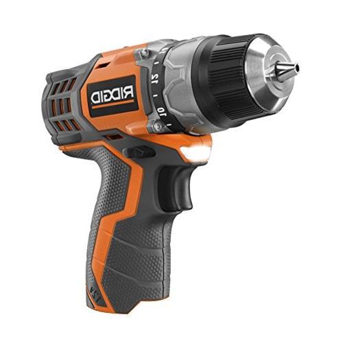 Ridgid 12-Volt in. Cordless Drill and Flashlight