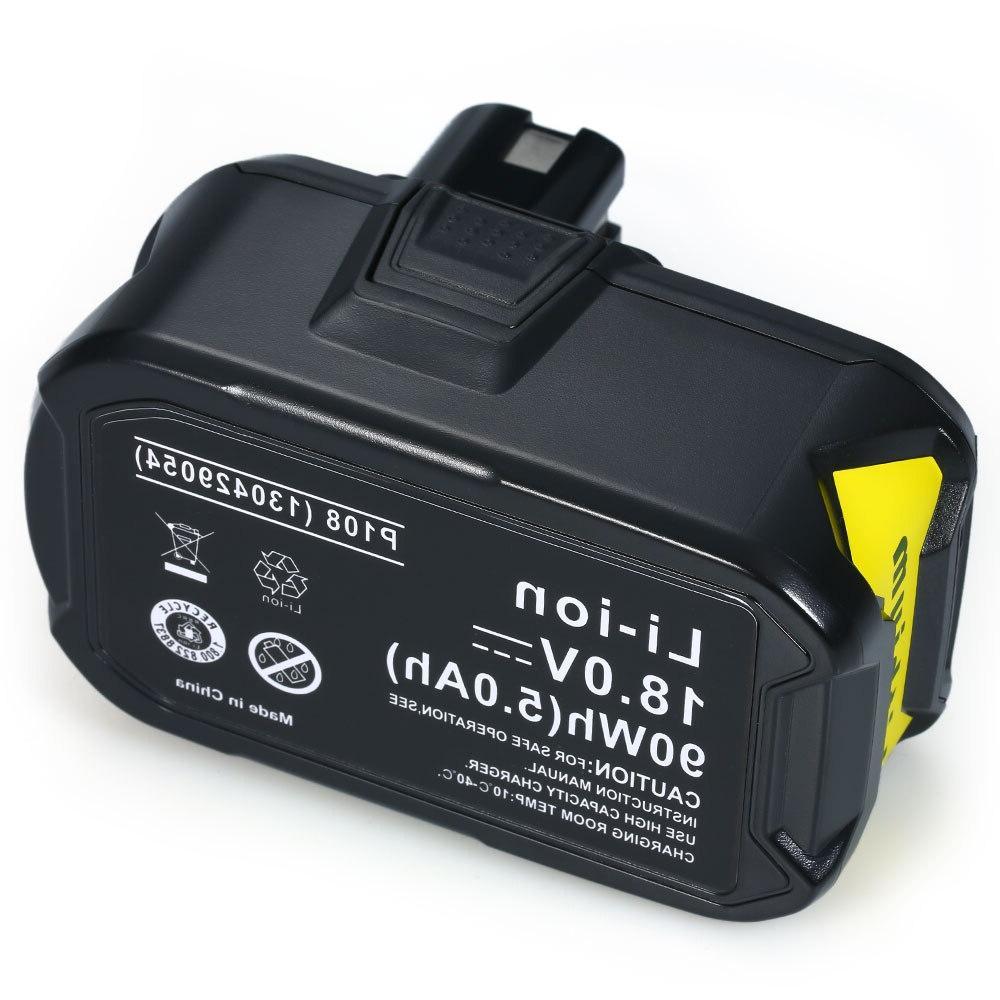 replacement battery for ryobi 18v 4000mah 5000mah
