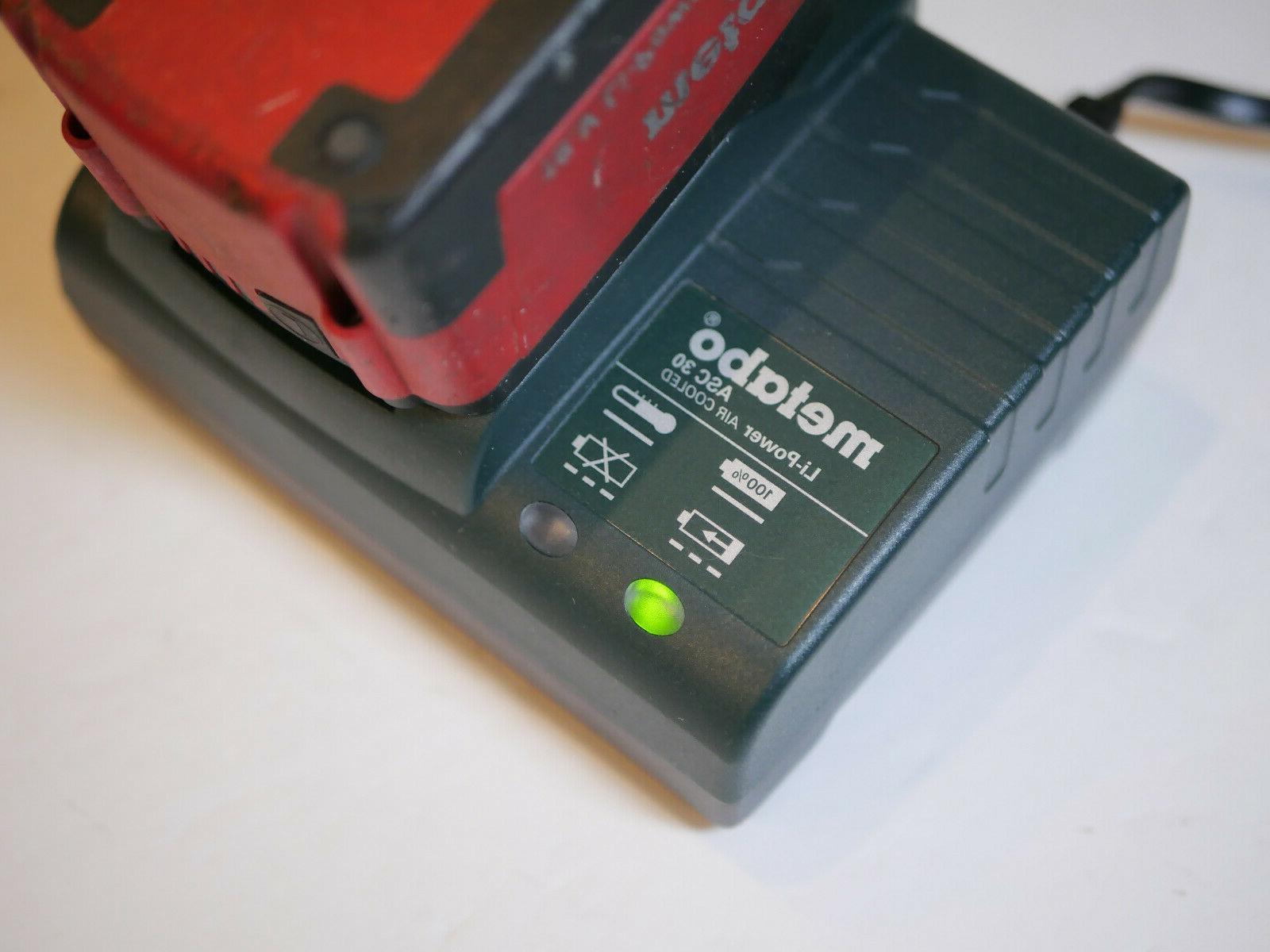 Metabo SB 18 LTX Cordless Drill Hammer Made Charger