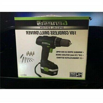 special edition 18 volt cordless drill driver