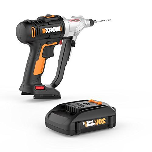 WORX WX176L 20V 2-in-1 Cordless Driver Chucks and with Precise Control