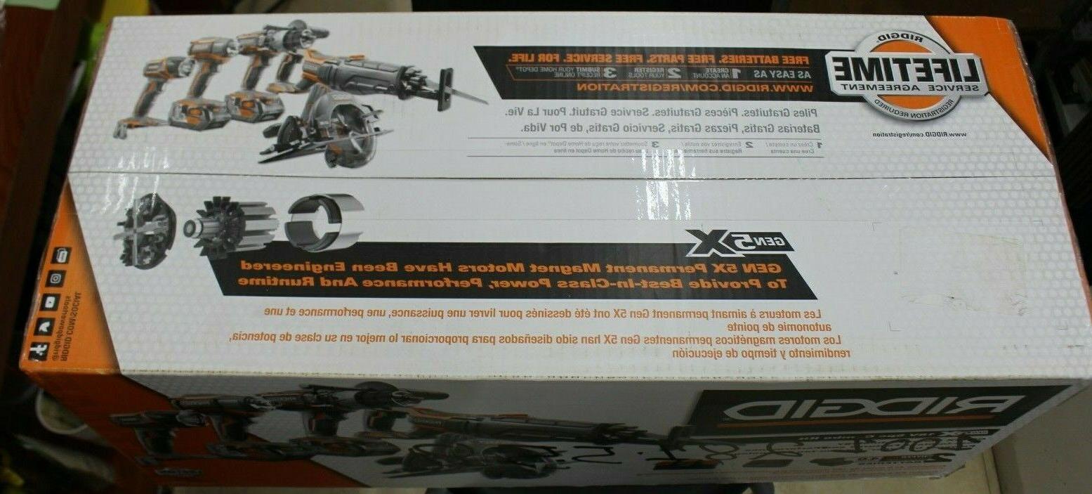 RIDGID TOOL R9652 18V GEN5X Combo Kit BRAND NEW