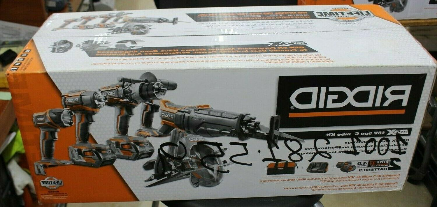 RIDGID 18V Tool Kit BRAND NEW