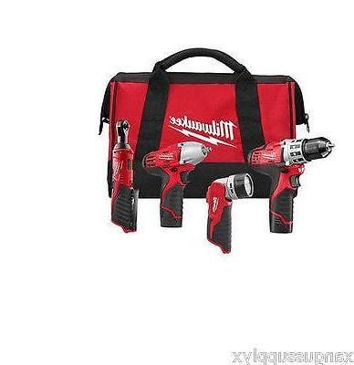 """Milwaukee 2493-24 M12 3/8"""" Impact Wrench Drill Driver 1/4"""" R"""