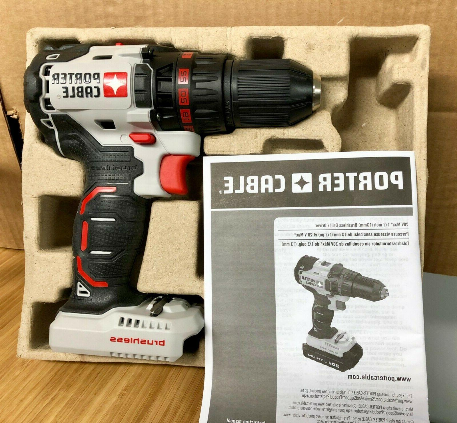x1 New Porter Cable Brushless Drill Driver 20V ONLY