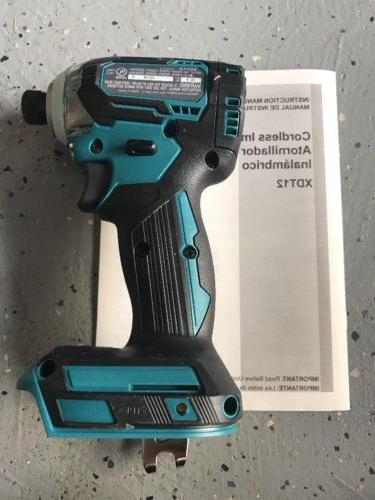 New Makita XDT12Z Brushless Cordless Driver