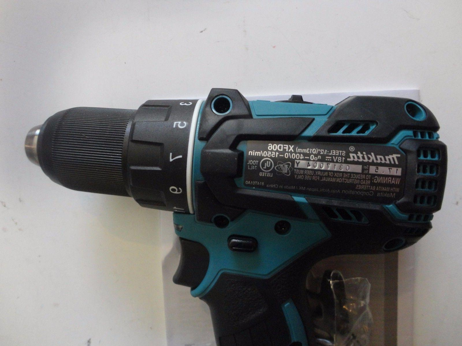 "MAKITA XFD06Z 18V Volt 1/2"" Drill Driver New"