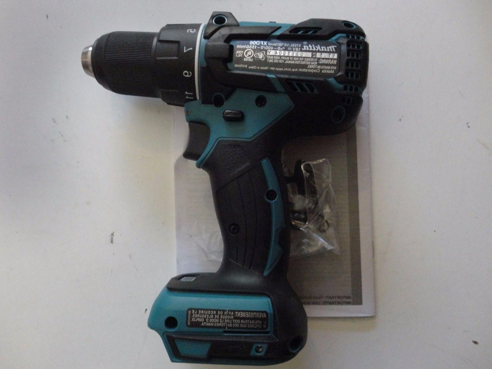 """MAKITA XFD06Z Volt Lithium Brushless 1/2"""" Drill Driver XFD06"""
