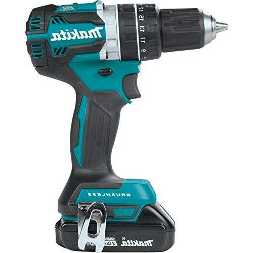 "Makita XPH12R 18V Lithium-Ion Compact Brushless 1/2"" Kit ,"