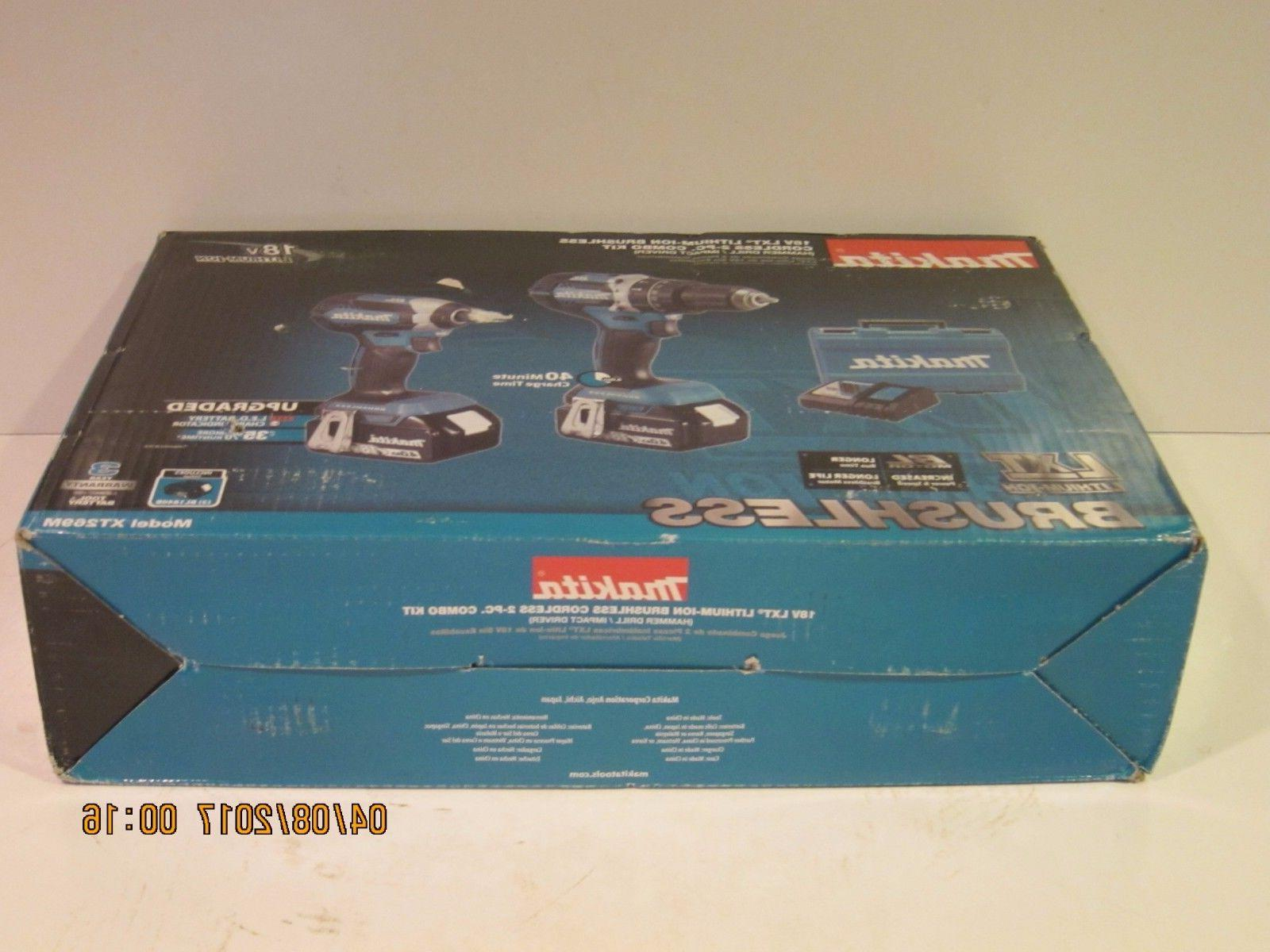 Makita XT269M 18V BL Combo Kit