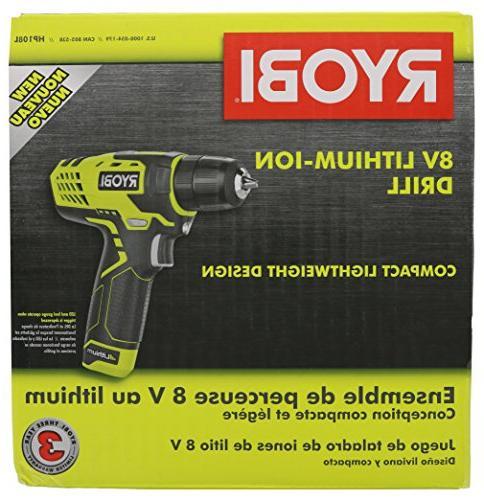 "Ryobi HP108L Volt Lithium Ion 3/8"" Drill /"