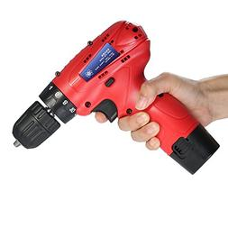 KKmoon 12V Lithium-Ion Multi-functional Electric Cordless Dr