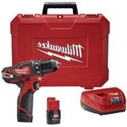 """New Milwaukee 2407-22 M12 3/8"""" 12 Volt Cordless Drill Drill"""