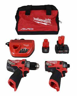 "Milwaukee Electric Tools 2598-22 M12 Fuel 2 Pc Kit- 1/2"" Ham"