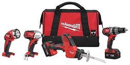 New Milwaukee 2695-24 M18 18 Volt 4 Tool Cordless Tool Set D