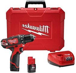Milwaukee Cordless Drill Driver Kit M12 12-Volt Lithium-Ion