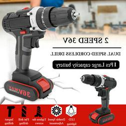 Multifunctional 36V Electric Impact Cordless Drill Rechargea