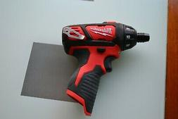 "New Milwaukee 12v M12 Lithium 2401-20 1/4"" Hex Compact Drill"