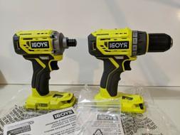 New RYOBI 18V Brushless P252 Drill/Driver and P239 Impact Dr