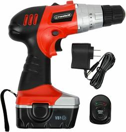 New Stalwart 18V Cordless Drill with Rechargeable Battery, B