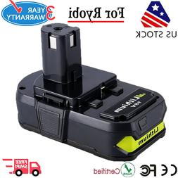 New Battery For Ryobi ONE+P102 18 Volt 2000mAh Lithium-Ion C