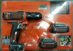 New ! Black & Decker Cordless Drill w/ 2 Batteries *12v Max