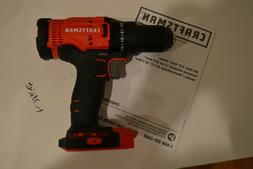 "New Craftsman CMCD700 V20 Cordless 1/2"" Drill Driver 20 Volt"