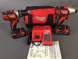 New Milwaukee M18 18V Cordless Drill Driver/Impact Driver Co