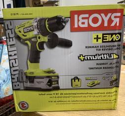 NEW Ryobi ONE+ 18V Brushless Hammer Drill/Driver KIT w/ Batt