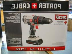 NEW Porter Cable Compact Hammer Drill Kit - 2 Batteries & Ch
