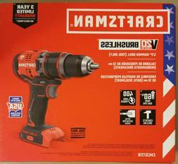 "NEW - Craftsman V20 Lithium Ion Brushless 1/2"" Hammer Drill"