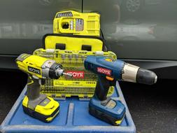 RYOBI One+ 18 Volt Lithium Ion Cordless Drill Driver and Imp