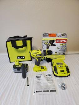 Ryobi ONE+ Cordless 1/2 in. Hammer Drill Driver Kit 18-Volt