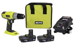 Ryobi 18-Volt ONE+ Lithium-ion Drill Driver Kit P817