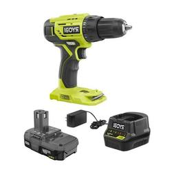 RYOBI P215K 18-Volt ONE+ Lithium-Ion Cordless 1/2 in Drill a