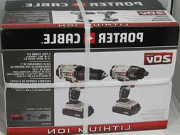 Porter-Cable PCCK604L2 20V Max Cordless Lithium-Ion Drill Dr