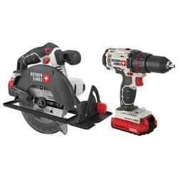 PORTER-CABLE PCCK605L2 20V Max Lithium Ion 2-Tool Combo Kit