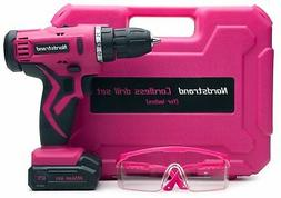 Nordstrand Pink Cordless Drill Set - Electric Screwdriver Po