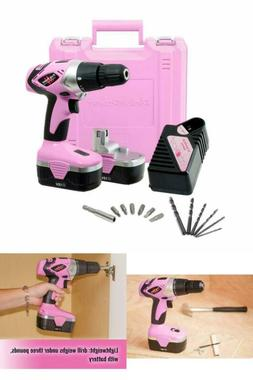 Pink Power Drill PP182 18V Cordless Electric Driver Women -