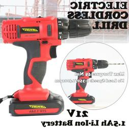 Portable Cordless Drill 1.5Ah Li-Ion Electric Driver Tool Re