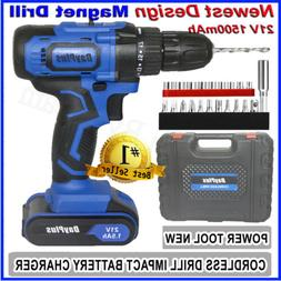 Portable Cordless Drill Li-Ion Electric Driver Kit Tool Repa