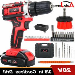 20V Cordless Drill Li-Ion 2 speed Electric battery&charger d