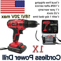 Portable Cordless Drill Li-Ion Electric Driver Kit Tool Repa