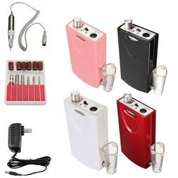 Portable Cordless Nail Drill File Rechargeable Electric Mani