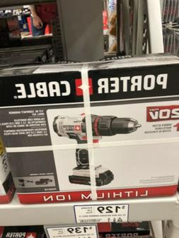 PORTER-CABLE 20V MAX Compact Hammer Drill Kit PCC621LB