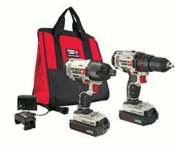 PORTER-CABLE 20V MAX Cordless Drill Combo Kit and Impact Dri